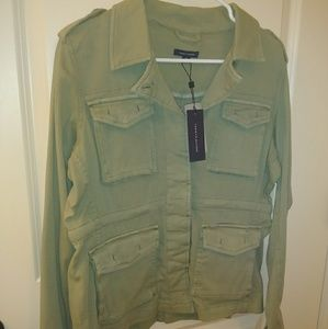 Tommy Hilfiger Army Green military-style jacket